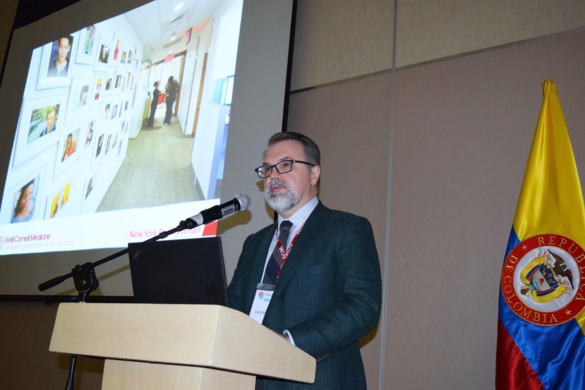 Lucian Sulica, MD addresses the Colombian Otolaryngology Association