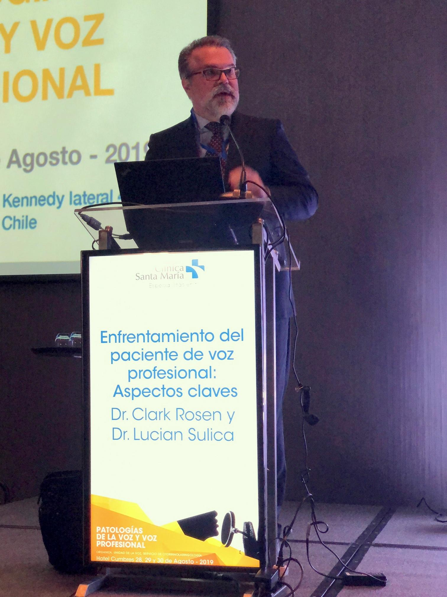 Lucian Sulica, MD discusses injuries in vocal performers in Santiago, Chile