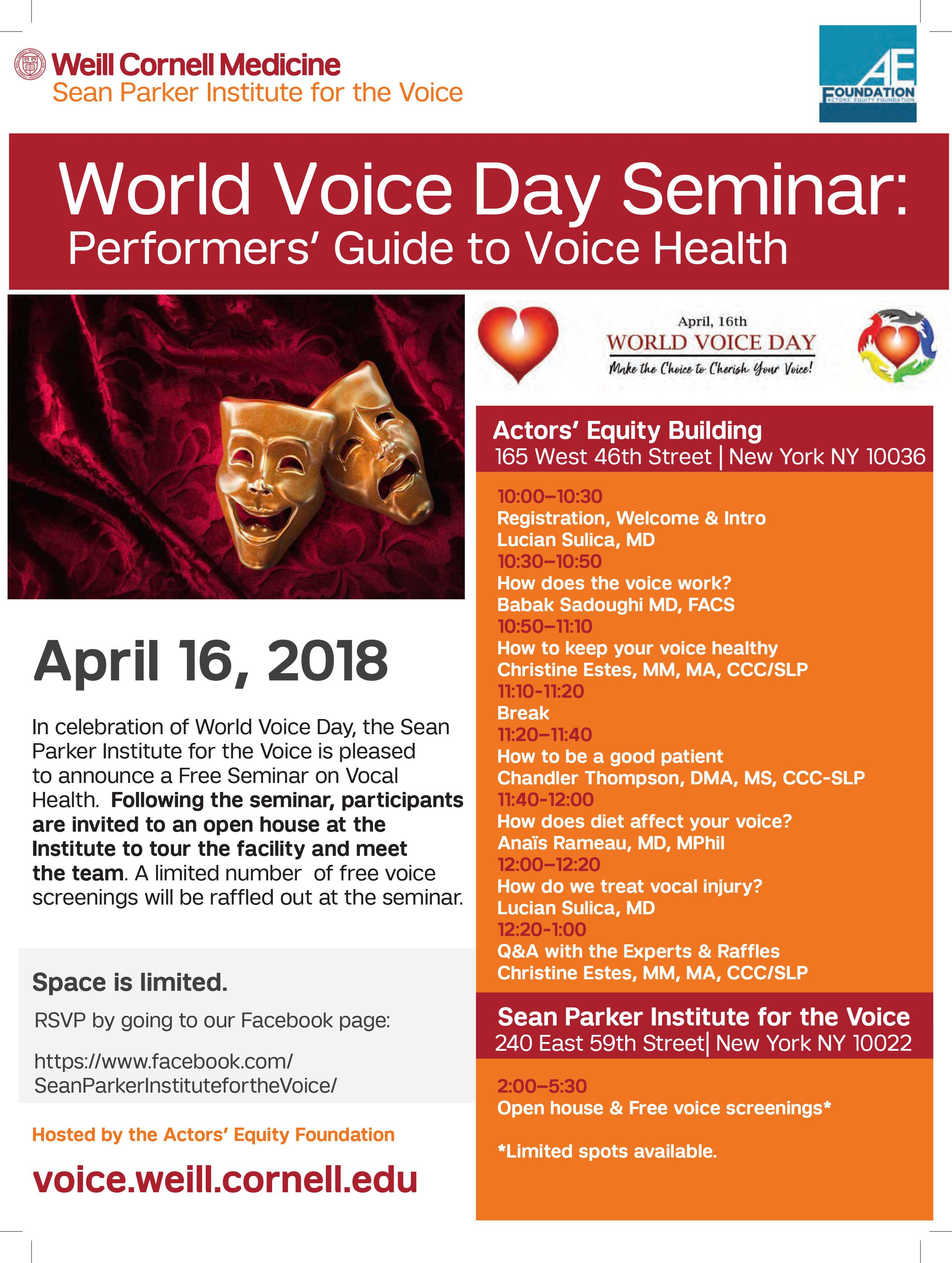 Sean Parker Institute World Voice Day Seminar