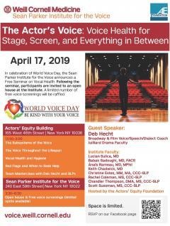 Sean Parker Institute World Voice Day Event 2019